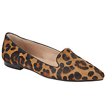 Buy Collection WEEKEND by John Lewis Gordes Pony Slip On Pumps, Leopard Online at johnlewis.com
