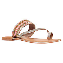 Buy Carvela Kart Embellished Cross Strap Sandals, Gold Suede Online at johnlewis.com