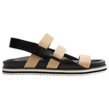 Buy Whistles Okra Leather Multi Strap Slider Sandals Online at johnlewis.com