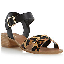 Buy Dune Jotta Leather Block Heel Sandals Online at johnlewis.com