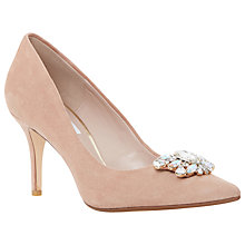 Buy Dune Belles Embellished Court Shoes, Blush Suede Online at johnlewis.com