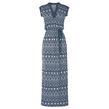 Buy Oasis Aztec Print Maxi Dress, Multi Blue Online at johnlewis.com