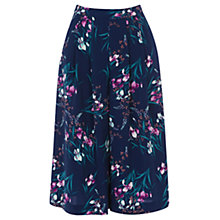Buy Oasis Soft Iris Print Culottes, Multi Online at johnlewis.com
