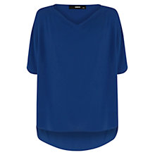 Buy Oasis Cowl Neck Top, Rich Blue Online at johnlewis.com