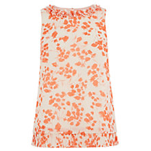 Buy Oasis Botanical Petal Top, White / Apricot Online at johnlewis.com