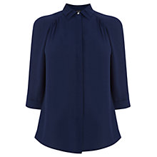 Buy Oasis Double Collar Shirt, Navy Online at johnlewis.com