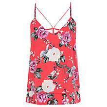 Buy Oasis Rose Cami Top, Coral Online at johnlewis.com