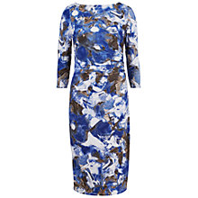 Buy Gina Bacconi Printed Dress, Cosmic Blue Online at johnlewis.com