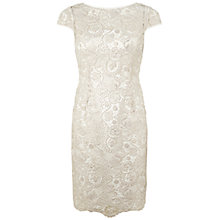 Buy Adrianna Papell Metallic Sheath Dress, Ivory Gold Online at johnlewis.com