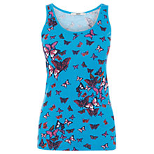 Buy Oasis Clustered Butterfly Tank Top, Multi Blue Online at johnlewis.com