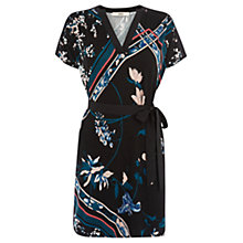 Buy Oasis Oriental Kimono Dress, Multi Black Online at johnlewis.com