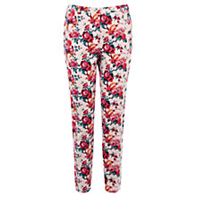 Buy Oasis Florentina Print Trouser, Multi Red Online at johnlewis.com