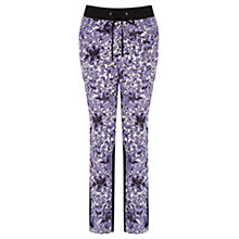 Buy Oasis Sienna Soft Print Trousers, Purple Multi Online at johnlewis.com