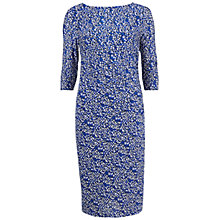 Buy Gina Bacconi Printed Dress, Sapphire Online at johnlewis.com
