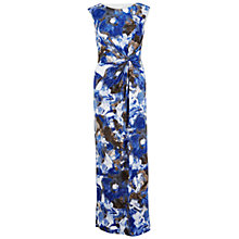 Buy Gina Bacconi Long Printed Dress, Cosmic Blue Online at johnlewis.com