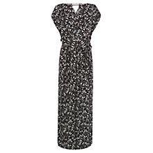 Buy Oasis Mattice Print Kimono Dress, Black/White Online at johnlewis.com