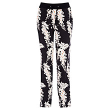 Buy Oasis Relaxed Oriental Trousers, Black/White Online at johnlewis.com