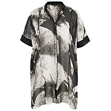 Buy Chesca Contrast Trim Printed Overshirt, Black Online at johnlewis.com