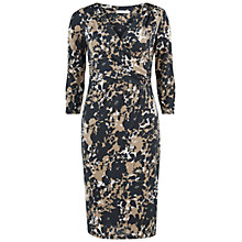Buy Gina Bacconi Printed Dress, Black/Beige Online at johnlewis.com