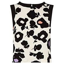 Buy Oasis Large Shadow Floral Top, Multi Online at johnlewis.com