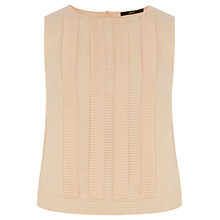 Buy Oasis Crop Pleated Top, Mid Neutral Online at johnlewis.com