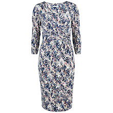 Buy Gina Bacconi Printed Dress, Blue/Pink Online at johnlewis.com