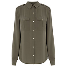 Buy Oasis Utility Shirt, Khaki Online at johnlewis.com