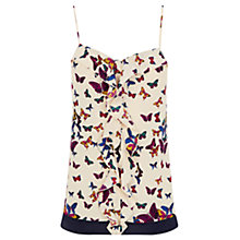 Buy Oasis Butterfly Frill Cami Top, Multi Online at johnlewis.com