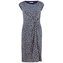 Buy Gina Bacconi Printed Knot Dress, Navy Online at johnlewis.com