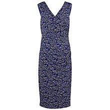 Buy Gina Bacconi Printed Knot Dress, Sapphire Online at johnlewis.com