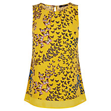Buy Oasis Butterfly Top, Ochre Online at johnlewis.com