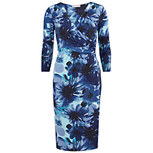 Buy Gina Bacconi Printed Dress, Turquoise Online at johnlewis.com
