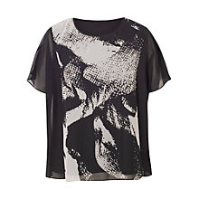Buy Chesca Abstract Tunic Top, Black Online at johnlewis.com