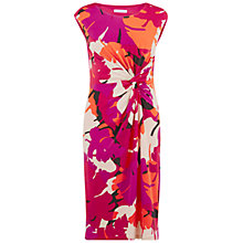 Buy Gina Bacconi Printed Knot Dress, Coral Online at johnlewis.com