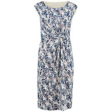 Buy Gina Bacconi Printed Knot Dress, Blue/Pink Online at johnlewis.com