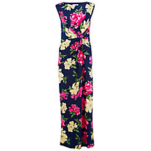 Buy Gina Bacconi Long Printed Dress, Navy/Pink Online at johnlewis.com