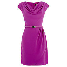 Buy Oasis Soft Sleeve Lola Cowl Dress, Bright Pink Online at johnlewis.com