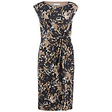 Buy Gina Bacconi Printed Knot Dress, Black/Beige Online at johnlewis.com