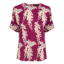 Buy Oasis Oriental Relaxed T-Shirt, Pink Online at johnlewis.com