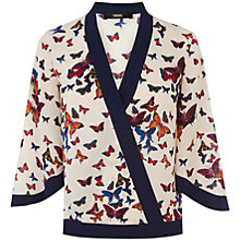 Buy Oasis Butterfly Wrap Top, White Online at johnlewis.com