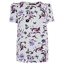 Buy Oasis Floral Grosgrain Tee, Multi Online at johnlewis.com