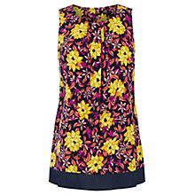 Buy Oasis Honey Flower Chiffon Shell Top, Multi Online at johnlewis.com