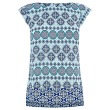 Buy Oasis Tile Patched T-Shirt, Rich Blue Online at johnlewis.com