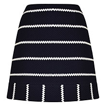 Buy Karen Millen Striped Jersey Mini Skirt, Blue Online at johnlewis.com
