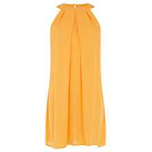 Buy Warehouse Halter Neck Dress, Honey Online at johnlewis.com