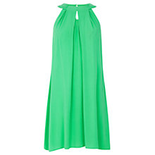 Buy Warehouse Halter Neck Dress, Bright Green Online at johnlewis.com