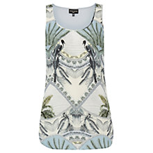 Buy Warehouse Silk Colonial Vest Top, Multi Online at johnlewis.com