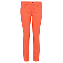 Buy Karen Millen Coated Skinny Jeans, Orange Online at johnlewis.com