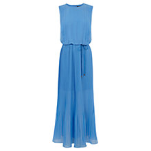 Buy Oasis Pleated Maxi Dress, Mid Blue Online at johnlewis.com