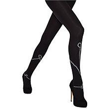 Buy Jonathan Aston Safety Pin Tights, Black/Grey Online at johnlewis.com